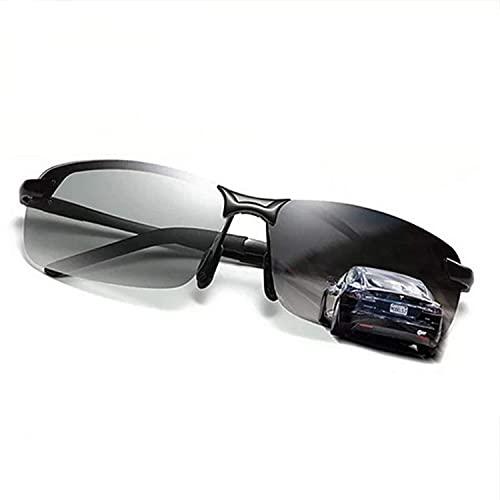 Wcjing Gafas de Sol fotocromáticas para Hombres con Lentes polarizadas para Conducir, Correr, Golf, Ciclismo, esquí, Pesca