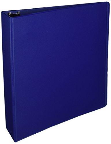 Business Source 2-Inch Round Ring Binder with Pockets - Dark Blue