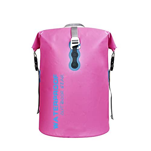 CYzpf Bolsa Estanca Impermeable Mochila 40L Portátiles Dry Bag Exterior Accesorios de Viaje para Camping Kayak Playa Deportes Rafting Acampada y Pesca,Pink
