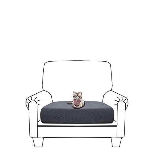 GETMOREBEAUTY Funda de cojín elástica para sofá, suave y flexible, impermeable, funda para cojín de sofá (Darkgray, silla)