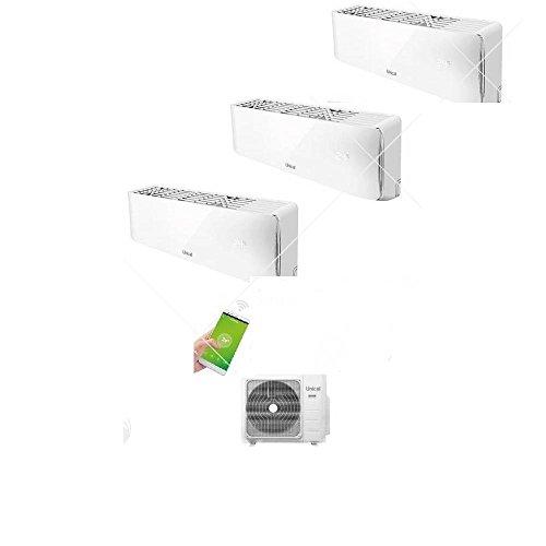 Condizionatore Climatizzatore Unical Trial Split Inverter a Parete 12000+12000+12000 Con CMX4 28HE
