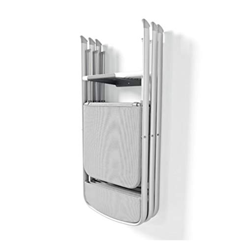 CONNUBIA Sedia Modello Alu Pieghevole in Alluminio e Tessuto Lavabile con Staffa a Muro appendi Sedia CALLIGARIS (4)