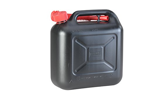 Kraftstoff-Kanister STANDARD 10l für Benzin, Diesel und andere Gefahrgüter, UN-Zulassung, made in Germany, TÜV-geprüfter Produktion, schwarz