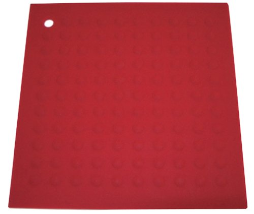 "Lamson Big HotSpot Counter Protector/Large Potholder/Trivet, 11.5"" x 11.5"", Red"