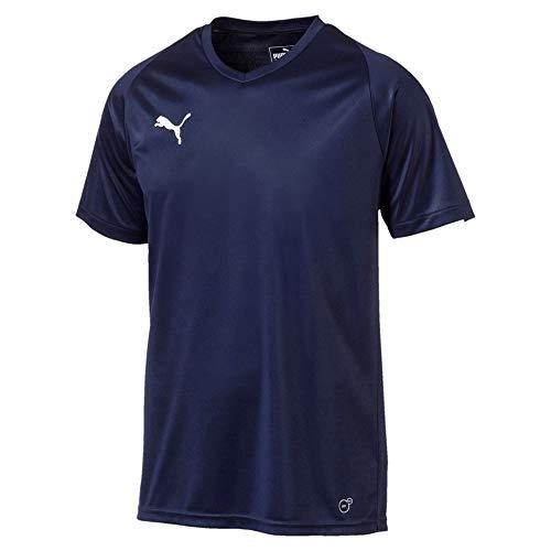 Puma Herren Liga Jersey Core, Peacoat White, L