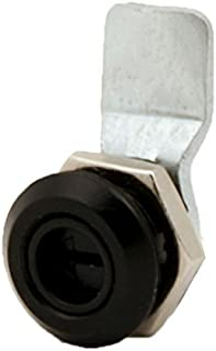 "FJM Security 0420 Keyless Waterproof Cam Lock with 3/4"" Cylinder and Black Finish"
