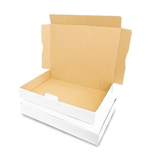 Verpacking 50 Maxibriefkartons 320x225x50mm DIN A4 Weiss MB-4 Maxibrief für Warensendung DHL DPD GLS H, Briefsendung, Päckchen, Versandkarton, Büchersendung