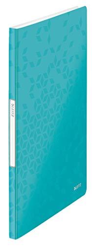 Leitz 46320051 Sichtbuch WOW, A4, PP, 40 Hüllen, eisblau