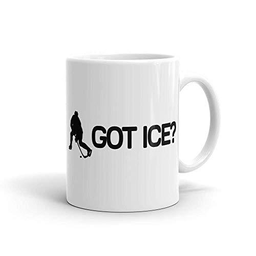 N\A Got Ice Hockey sobre Hielo Hockey sobre Hielo Jugador de Hockey Canadá Hockey Canadiense Fanático del Hockey Fo Hockey Taza de café Tazas de té de 11 oz