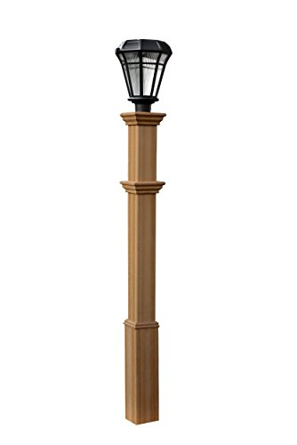 "New England Arbors Burton 5""x5"" Composite Lamp Post"