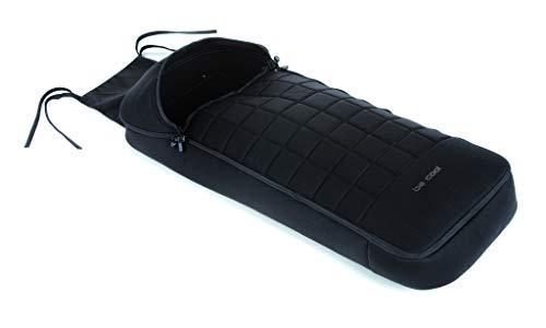 Be Cool Footmuff Saco de Invierno para Silla de Paseo, Interior Polar, Cremallera Frontal, Color Negro