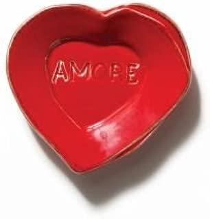 Vietri Lastra Red Heart Mini Amore Plate