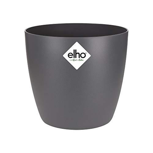 elho Brussels Round Vaso di Fiori, Antracite, 13x13x11.4 cm