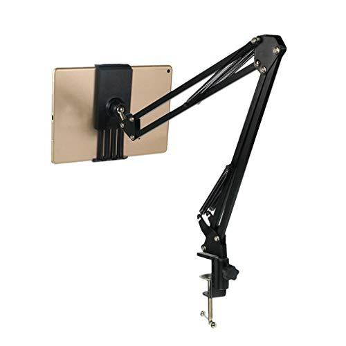 zhoufeng Soporte for el teléfono, la Tableta del teléfono móvil Perezoso Soporte Ajustable 360 ° de rotación para Mantener la Estabilidad (Color : Black)