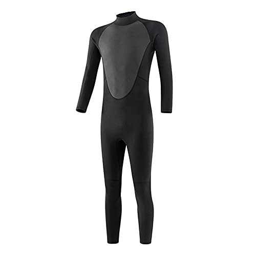 LYEAA Traje de neopreno térmico de 3 mm para hombre, traje de neopreno ultra elástico de una pieza con cremallera trasera para buceo, surf, esnórquel, piragüismo, pesca submarina, piel de buceo (3XL)
