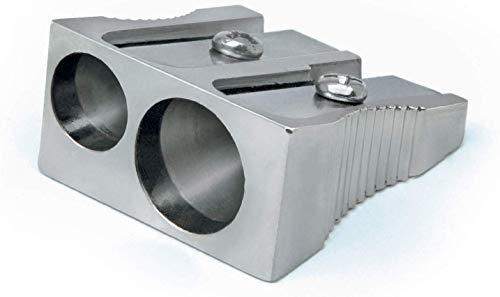 Rapesco R14DCDM2 Sacapuntas de Metal con Doble Agujero para Lapiceros de 6 y 8 mm