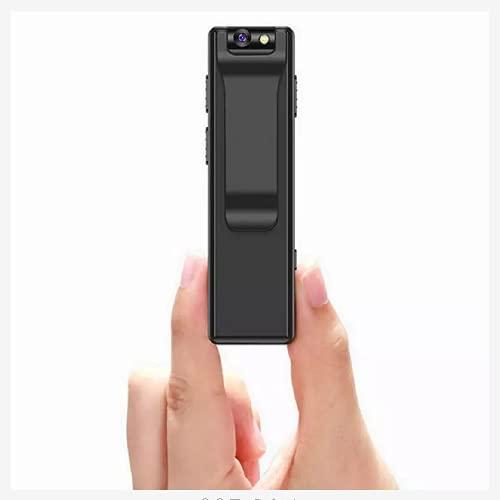 Cámara mini cuerpo 1080P detección de movimiento, visión nocturna, microcámaras espía con grabación en bucle de instantáneas, 32 GB