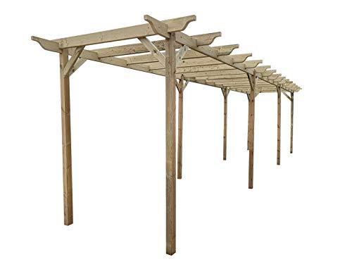 Garden Wooden Pergola Kit - Exclusive Pergola Range - 9 Designs - 42 Size Kits (2.4m x 4.8m (with 4 posts), Orchid Design)
