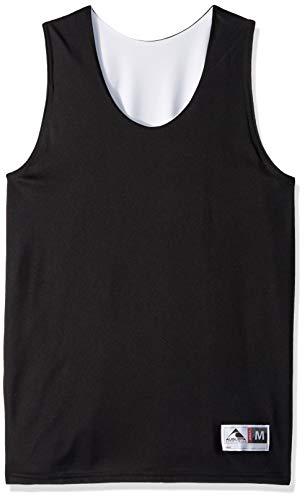 Augusta Sportswear Augusta Reversible Wicking Tank, Black/White, Large