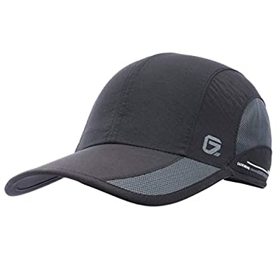 GADIEMKENSD Quick Dry Sports Hat Lightweight Breathable Soft Outdoor Run Cap Baseball Cap (Classic Upgrade, Black)