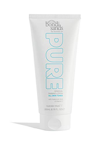 Bondi Sands PURE Gradual Tanning Lotion | Hydrates with Hyaluronic Acid for a Glowing Tan, Fragrance Free, Cruelty Free, Vegan | 6.76 Oz/200 mL