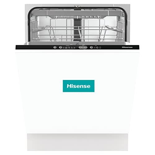Hisense HV661C60 - Lavavajillas Integración, Capacidad para 16 Servicios, 3 Bandeja, 60 cm, 5 Programas, Filtro Autolimpiable, Contador Digital con Programa Ecológico, Silencioso