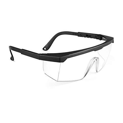 Berwke Protective Glasses Eye Protection Glasses Adjustable Clear Safety Glasses for Work Protective Eyewear Black