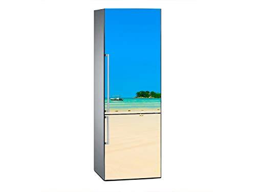 Oedim Pegatinas Vinilo para Frigorífico Playa Sea Surf   185x60cm   Adhesivo Resistente y de Fácil Aplicación   Pegatina Adhesiva Decorativa de Diseño Elegante