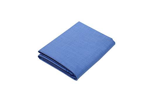 KUNDAN SULZ GWALIOR Men's Poly Cotton Blended Unstitched Shirt Piece (Light Blue, 2.25 m, Free Size)