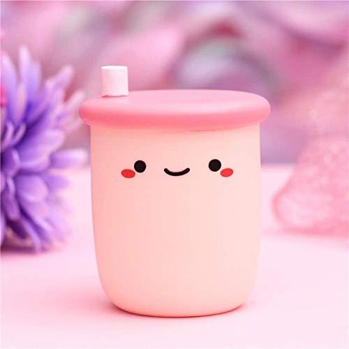 Lámpara de Noche Creativa, Linda Leche, té, Yogur, luz de Noche en Forma de Botella, lámpara de Noche portátil para niños pequeños para niñas, decoración del hogar, 1 Pieza (Milk Tea-C)
