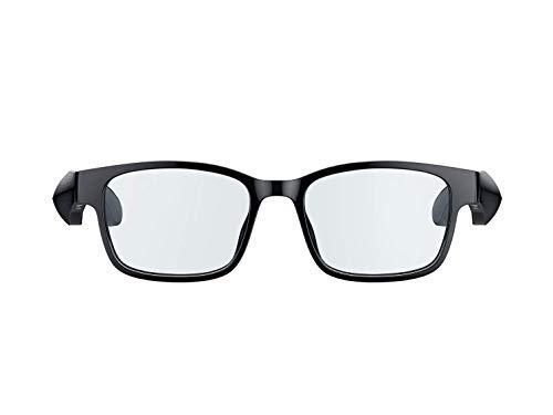 Razer Gafas inteligentes Anzu rectangulares, gafas grandes gafas de audio con luz azul o filtro de protección solar micrófono, altavoz integrados, batería de 5 horas, a prueba de salpicaduras negro