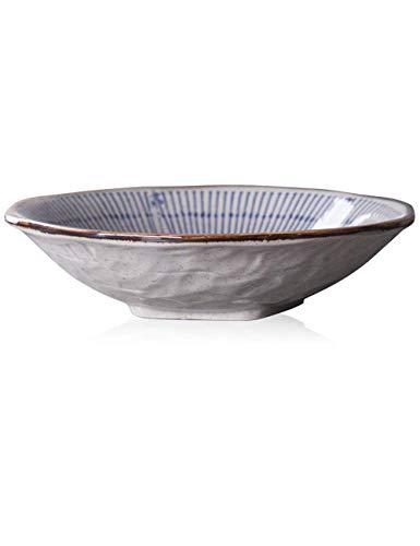 YAeele Norte de Europa tazón de Ensalada de Frutas de cerámica Bol de Fideos de arroz Postre casa tazón Recipiente Poco Profundo vajilla