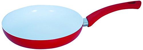 MSV 110499 Poêle en Aluminium 28 cm, revêtement intérieur en céramique, Silicone, Rouge/Blanc
