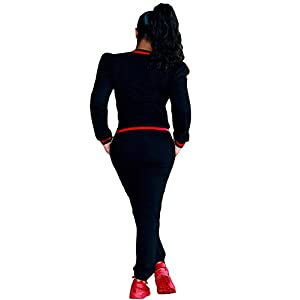 Akmipoem Women's 2 Pieces Outfits Long Sleeve Zipper Jacket and Pants Set Tracksuits