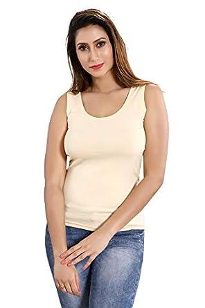 Be You Women Lycra Cotton Solid Tank Top - Size: M-XL