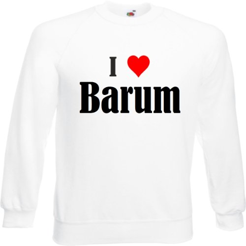 Reifen-Markt Sweatshirt I Love Barum Größe 2XL Farbe Weiss Druck Schwarz