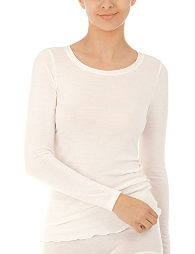 CALIDA Damen True Confidence Top Langarm Unterhemd, Cream White, 34
