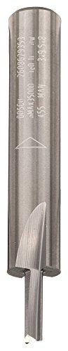 Bosch Professional Vollhartmetall-Nutfräser (für Holz, Schaft 8mm, Ø3mm, Arbeitslänge 9,5mm, Gesamtlänge 50,7mm)