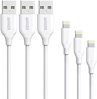 [3 Pack: 3ft/6ft/10ft] Anker Powerline Lightning Cable Apple MFi Certified - Lightning Cables for iPhone Xs/XS Max/XR/X / ...