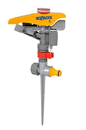Hozelock Aspersor cañon con fijación metálico y Ajuste de riego Regulable, Amarillo, 5.3x15.2x40.2 cm