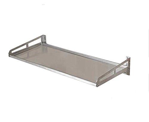 Étagères en acier inoxydable 304 / étagères micro-ondes murales/rangement de cuisine (Taille: 30 * 50cm)