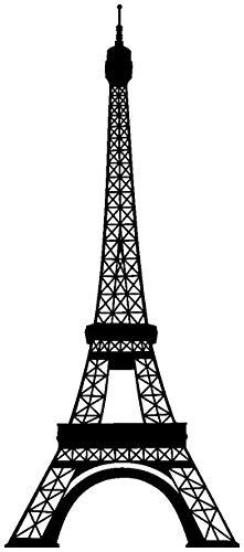 Samunshi® Wandtattoo Eiffelturm Paris Wandaufkleber in 13 Größen und 25 Farben (52x120cm schwarz)