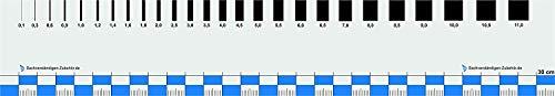 Sachverständigen-Zubehör - Rissbreitenlineal FLEXIBEL | 30 cm | Dokumentationshilfe praktisches Risslineal | Riss Karte Fotodokumentation | exaktes Rißlineal