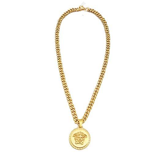 Mode Medusa Anhänger Golden Legierung Anhänger Halskette (1 Pc) (A)