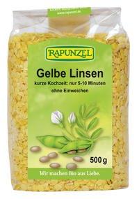 Rapunzel Bio Linsen gelb, 1er Pack (1 x 500g) - BIO