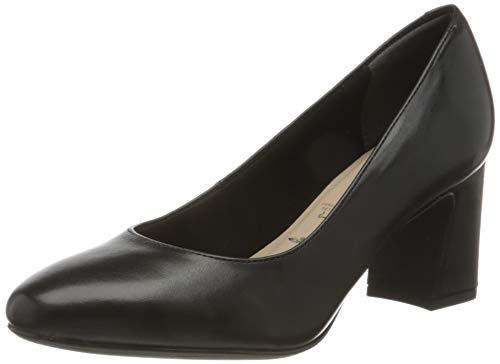 Tamaris Damen 1-1-22402-25 Pumps, Black Leather, 41 EU