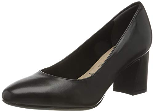 Tamaris Damen 1-1-22402-25 Pumps, Black Leather, 39 EU