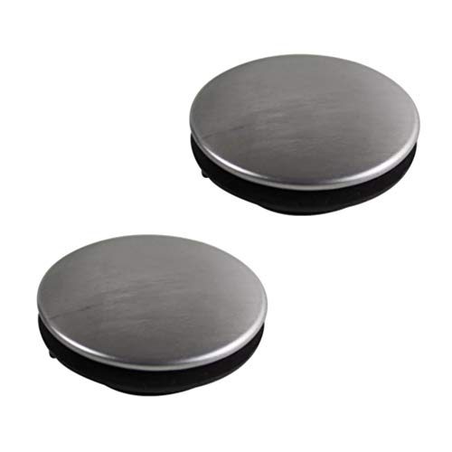 STOBOK 2PCS Sink Hole Cover Sink Tap Hole Plate Stopper Cover Blanking Metal Plug (Installing Hole for 31-40mm)