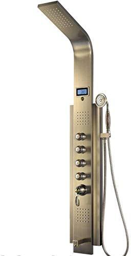 Aohi Baño Columna de ducha Torre Grifo de ducha Cascada Panel de ducha Chorros de masaje Torre systerm Columna de ducha Ducha metálica Juego de baño