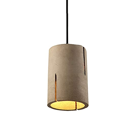 Lámpara Colgante De Cemento, E27 Iluminación Decorativa Retro Industrial Simple con Alambre Ajustable Loft Lámpara Colgante para Comedor Isla Corredor Cafe Ba, A Home